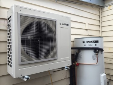 Sanden Heat Pump wall mounted option and 250L Tank in Thornbury